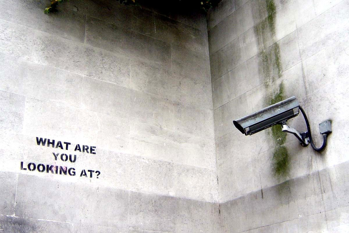 Street art in London, England by Banksy (photo © nolifebeforecoffee)