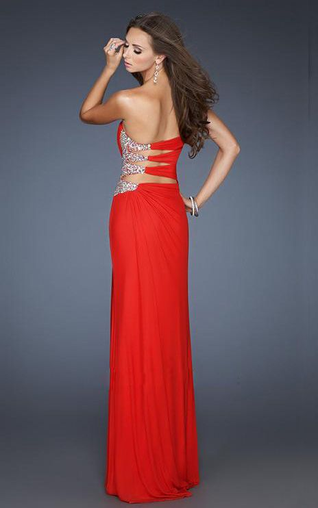 Collection Long Red Dress With Slit Pictures - Reikian