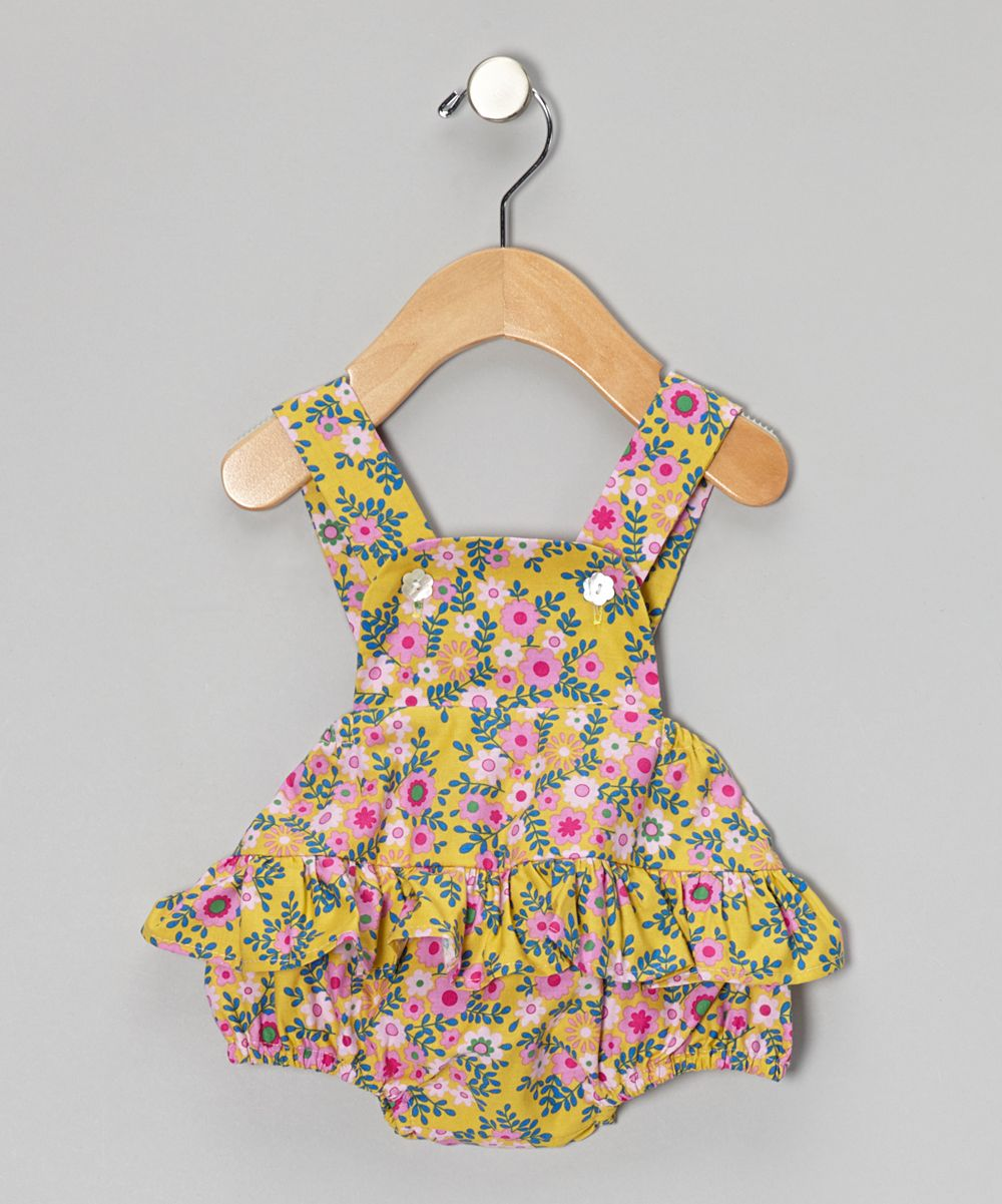 Yellow Floral Bubble Bodysuit - Infant | Daily deals for moms, babies and kids