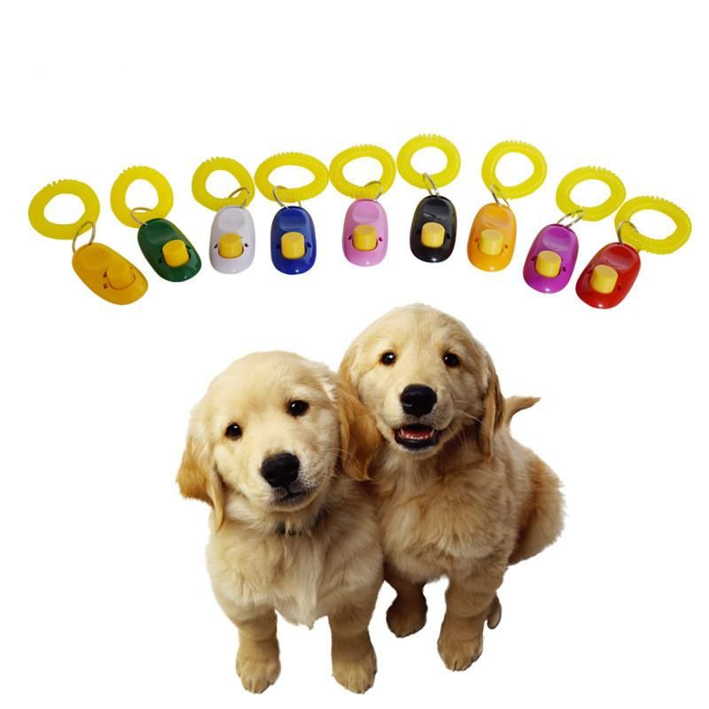 Pet Dog Training Clicker Cat Trainer With Key Ring And Wrist Strap