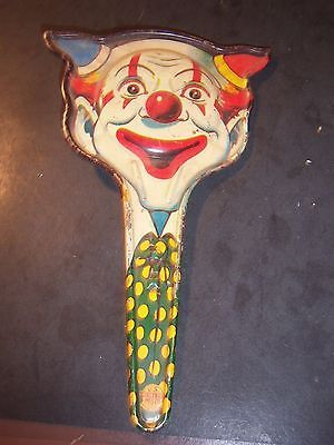 Vintage U. S. METAL TOY MFG. CO. CLOWN NOISE MAKER TIN Cat Head Shape A77 PG - http://collectibles.goshoppins.com/holiday-seasonal/vintage-u-s-metal-toy-mfg-co-clown-noise-maker-tin-cat-head-shape-a77-pg/