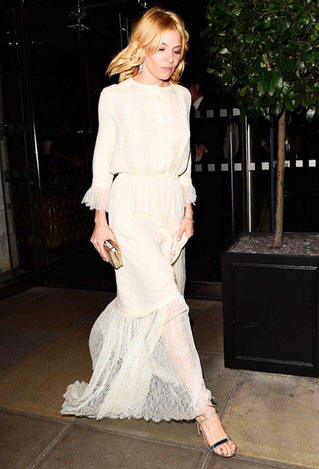 6873d9cec20 Sienna Miller Just Wore the Dreamiest White Dress