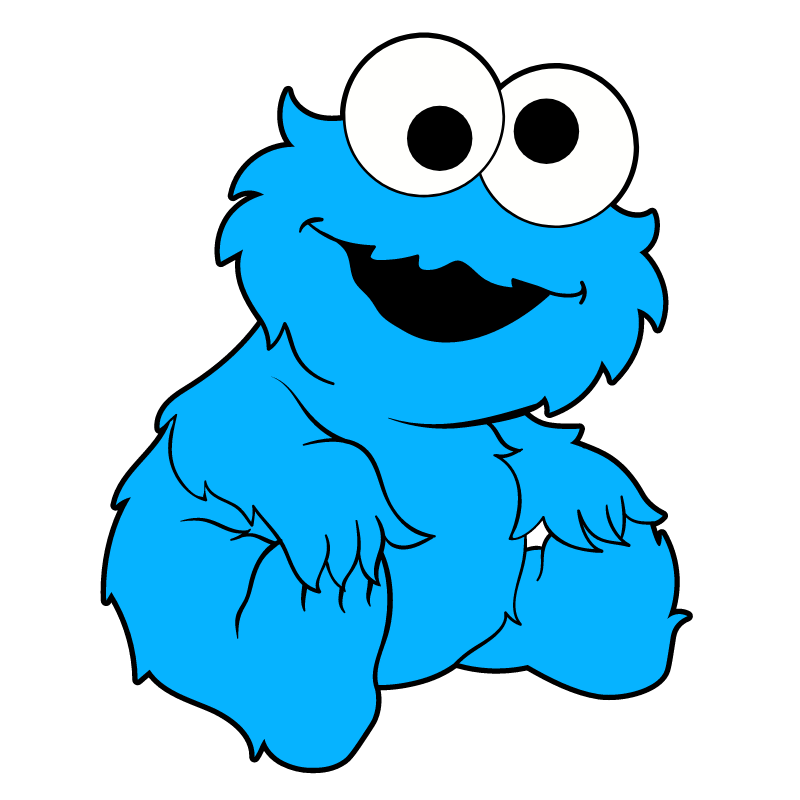 Baby Cookie Monster Monster Stickers Cookie Monster Wallpaper Baby Cookie Monster