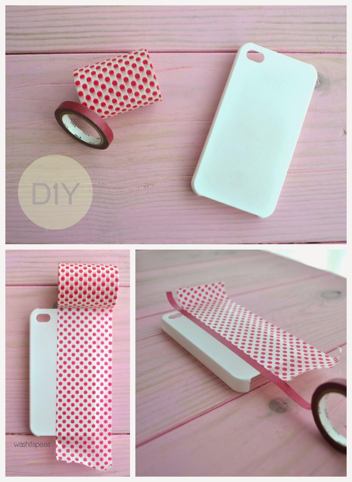 9a57bafeab0 washi tape: DIY: Funda de móvil con washi tape | diy | Fundas ...