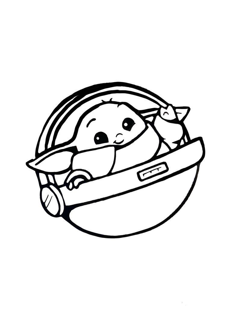Baby yoda svg download SVG download Cute adorable baby ...