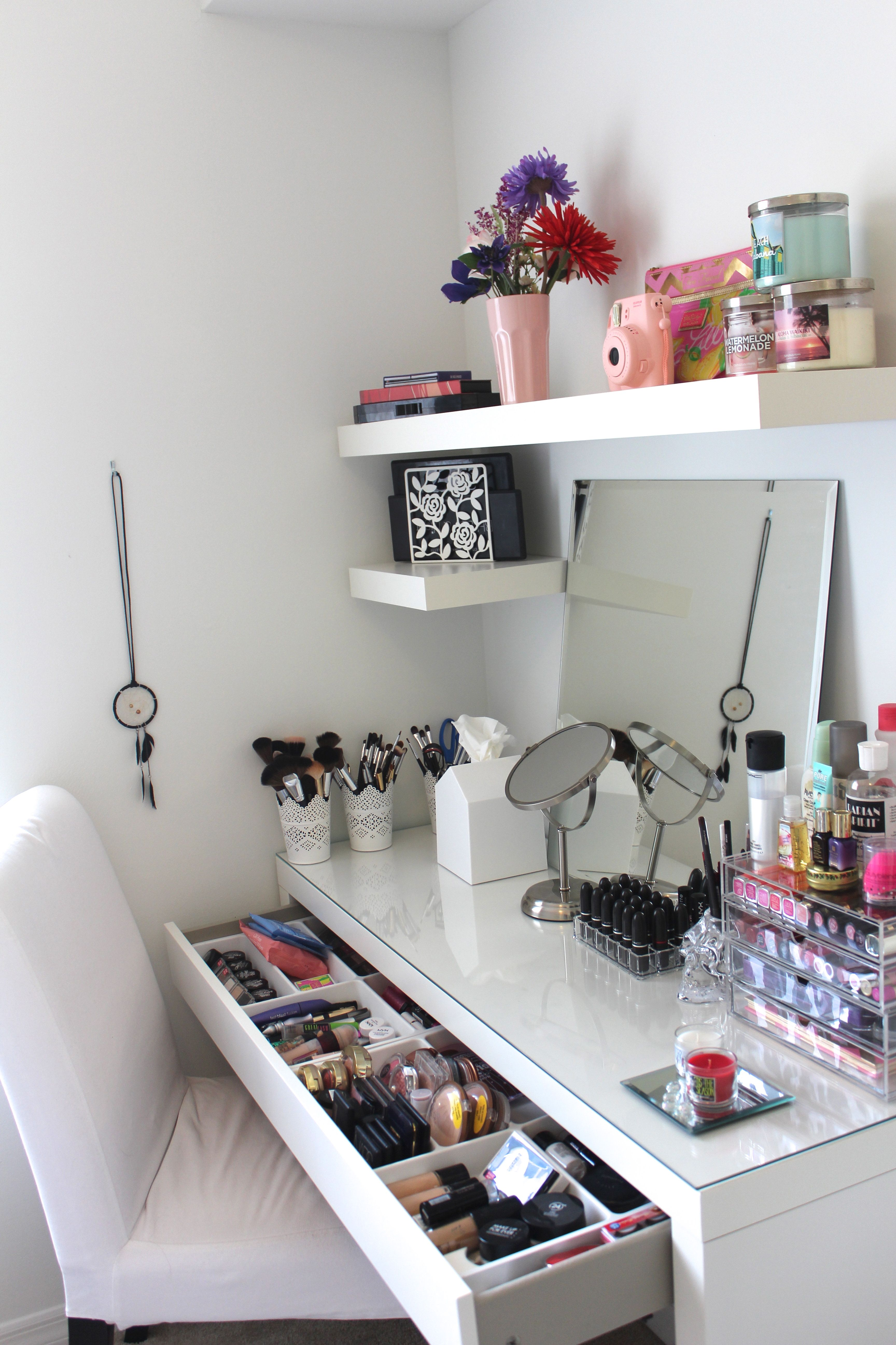 Vanity trays click pic for 17 diy makeup storage and for Diy room storage