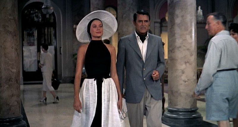 To Catch a Thief_Grace Kelly, Cary Grant_Black beach wear_front skullcap.bmp