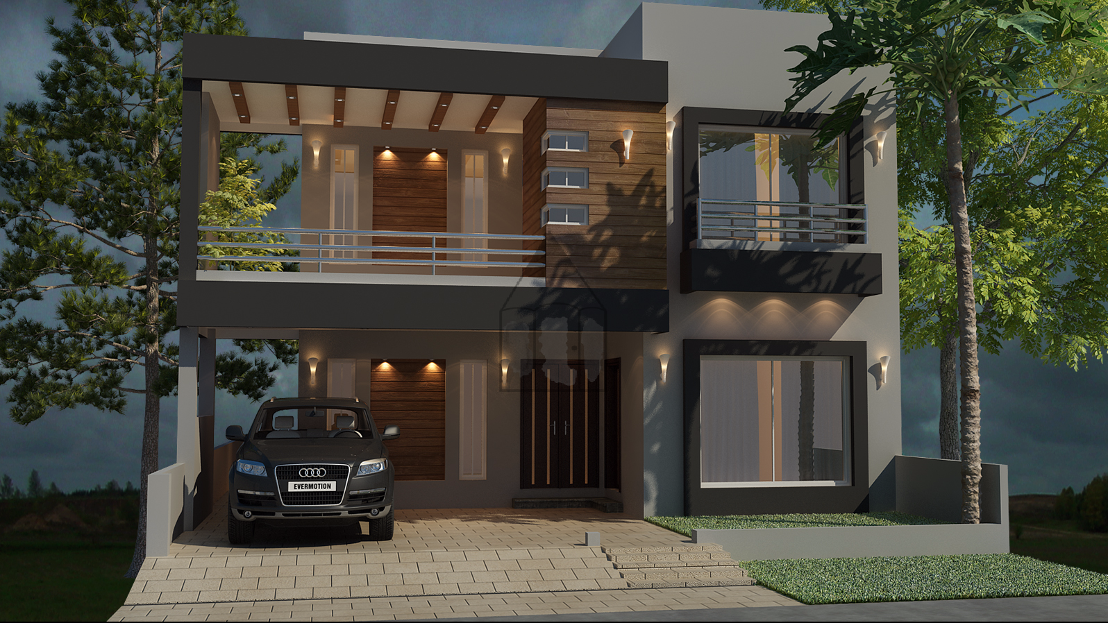 Beautiful 10 Marla house plan as its layout plan is designed on 3 stories and on the land of 10 ...
