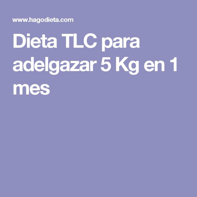 Dieta de 1 mes para bajar 5 kilos