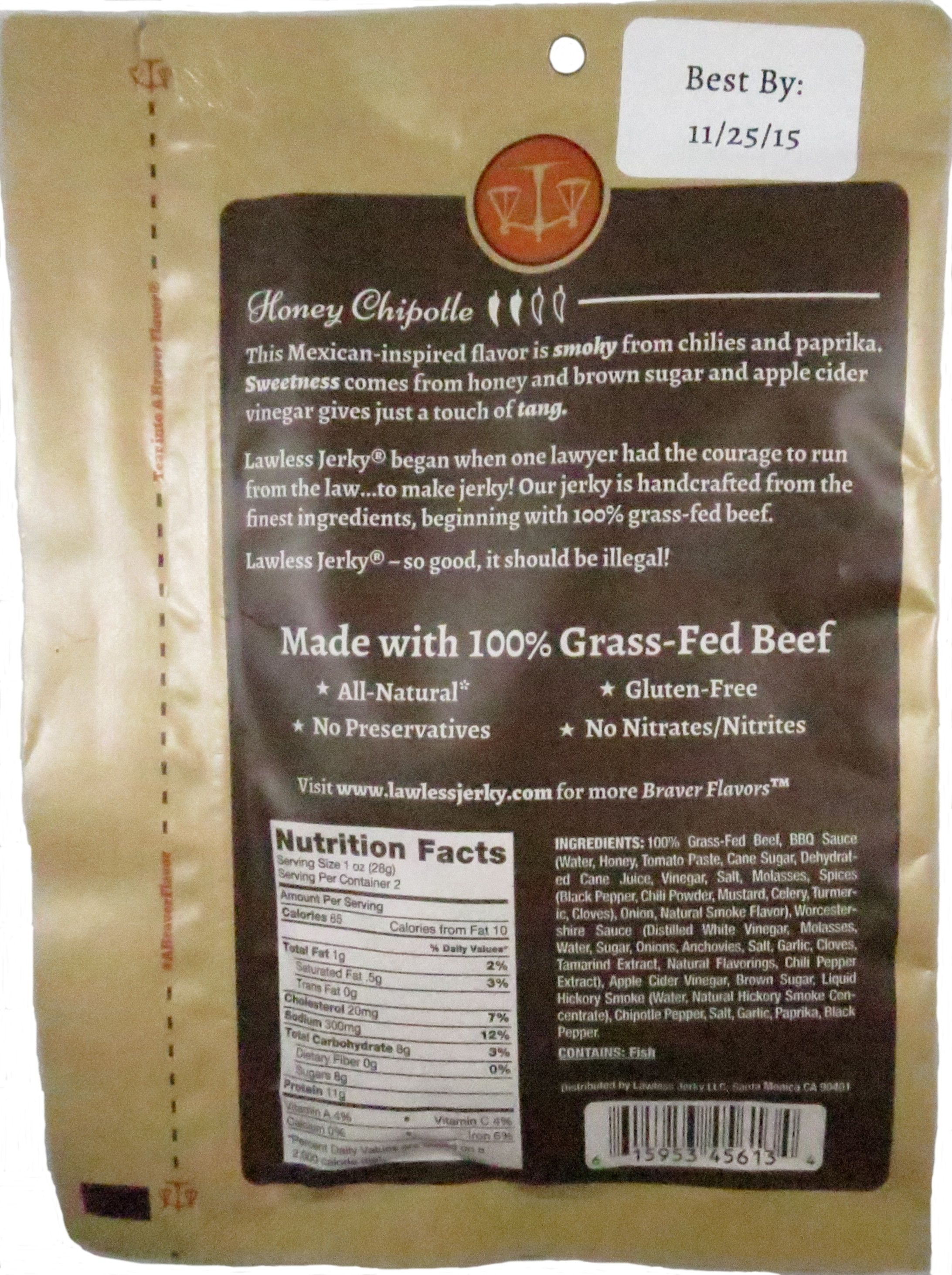 Discover How Lawless Jerky Honey Chipotle 100 Grass Fed Beef Jerky Fared In A Jerky Review Http Jerkyingre Grass Fed Beef Jerky Honey Chipotle Beef Jerky