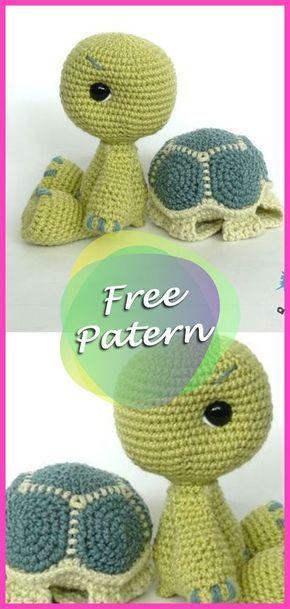 Amigurumi Schildkröte Spielzeug frei häkeln Muster von ...