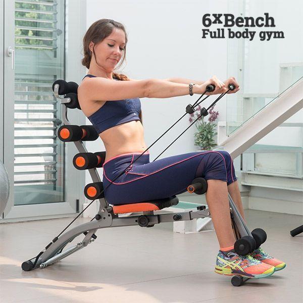 Dicaccamoshop Panca per Allenamento 6xBench Muscoli Addominali Braccia e Schiena