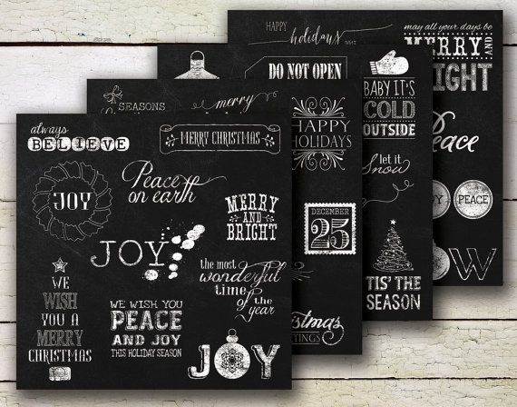 Christmas Chalkboard Mega Pack 2  Save 25  by JubileeDigitalDesign, $15.00