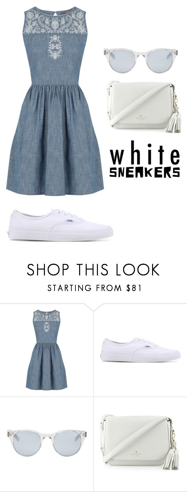 """""""Untitled #730"""" by alison-tann ❤ liked on Polyvore featuring Oasis, Vans, Sun Buddies and Kate Spade"""