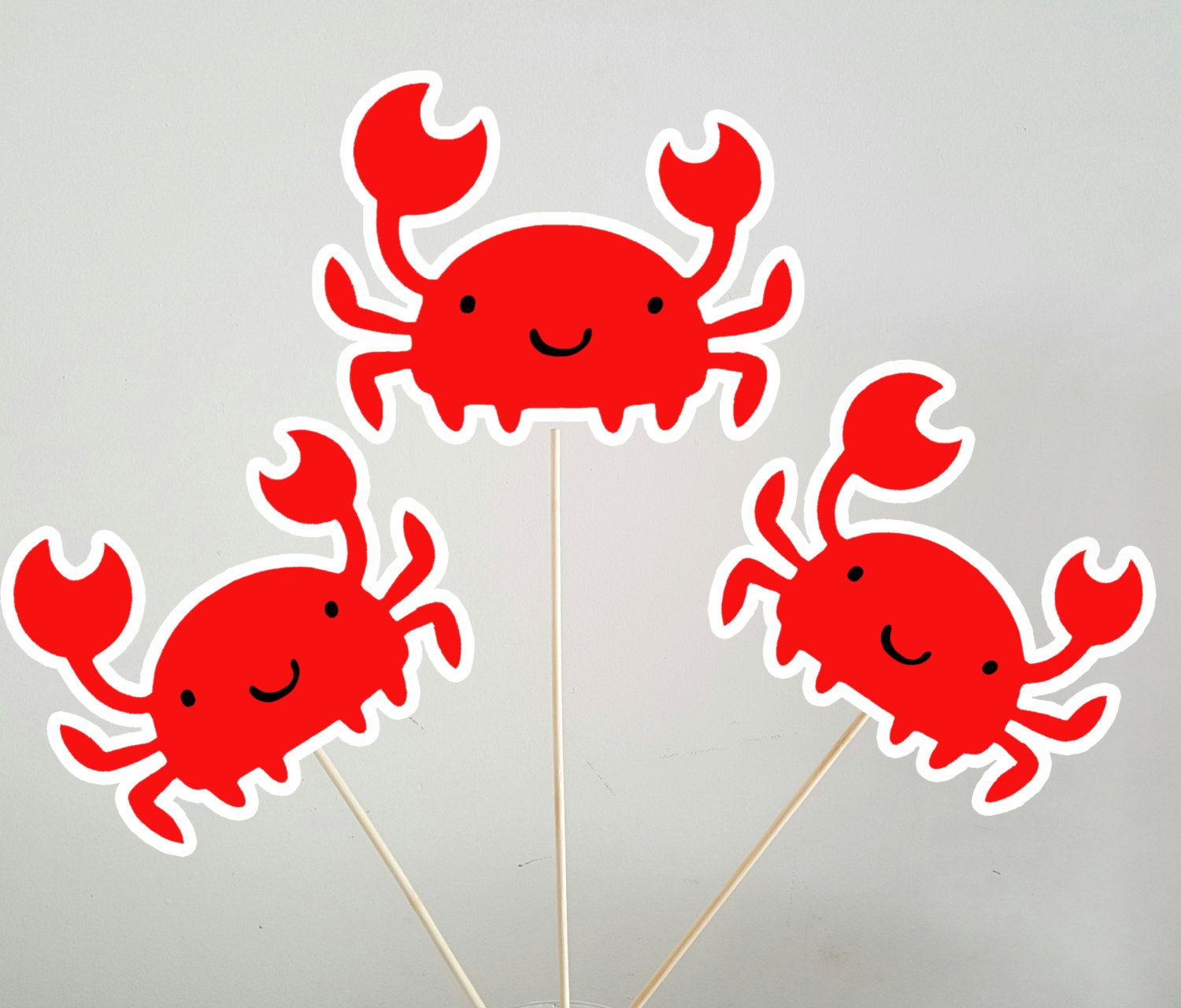 Crab Centerpieces by CraftyCue on Etsy