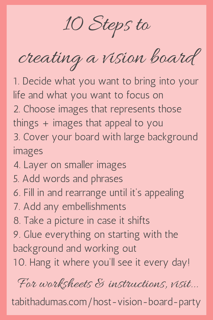 How to host a vision board party - Tabitha Dumas