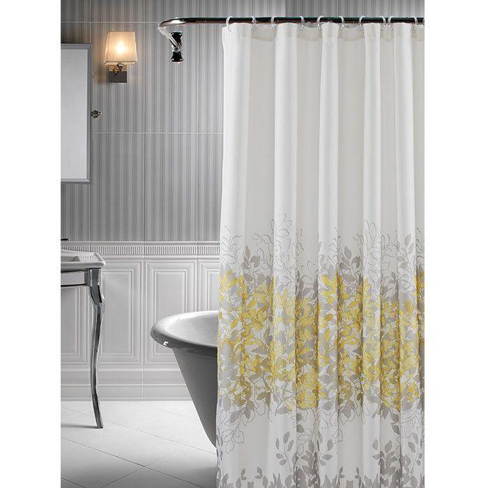 shower curtains yellow bathroom walls