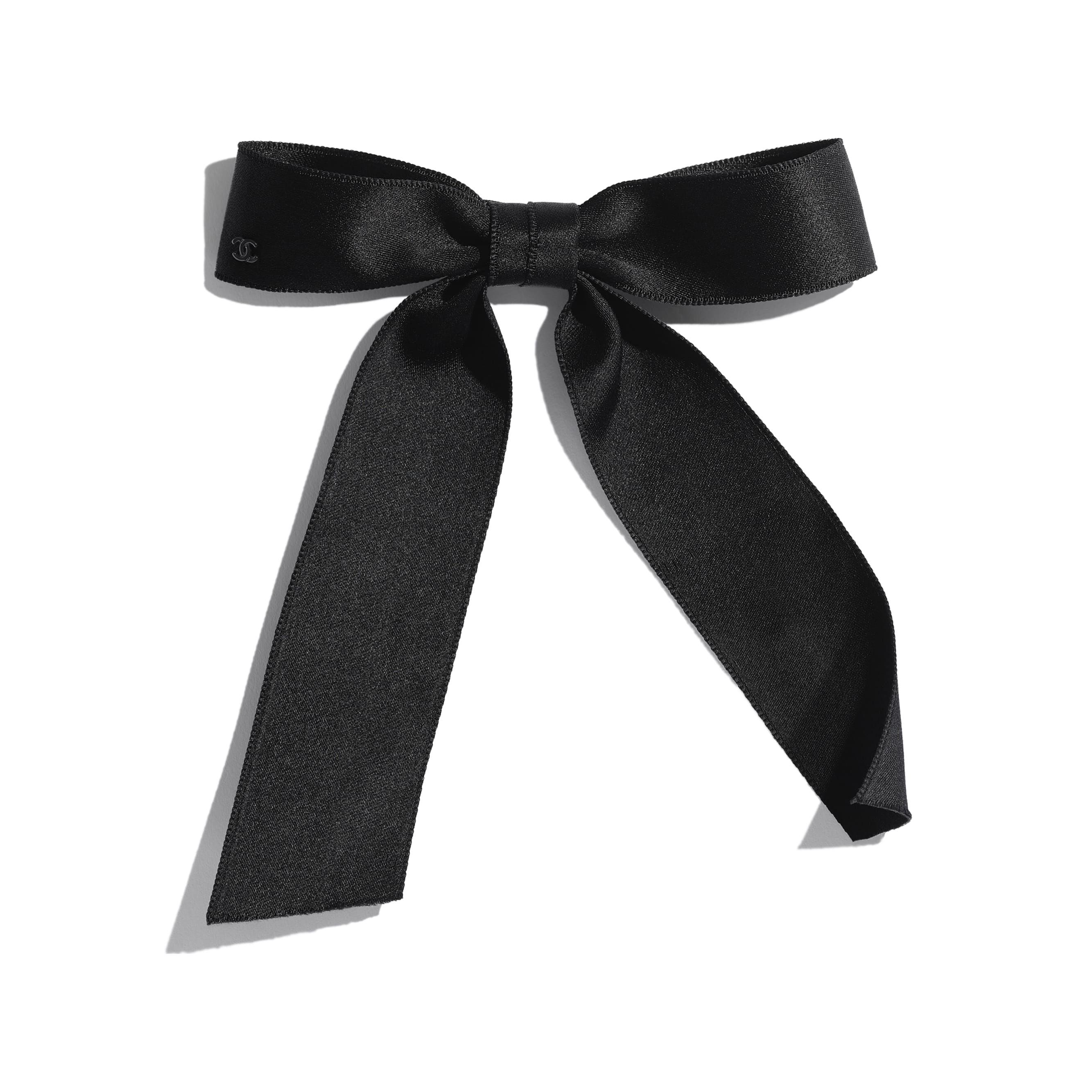 Silk Black Hair Accessory Chanel Black Hair Bows Black Hair Accessories Beautiful Hair Accessories