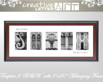 Creative Letter Art Framed Name With Original Architectural