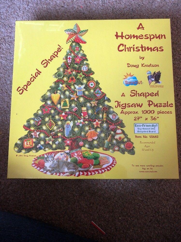 A Homespun Christmas By Doug Knutson A Shaped Jigsaw Puzzle  eBay