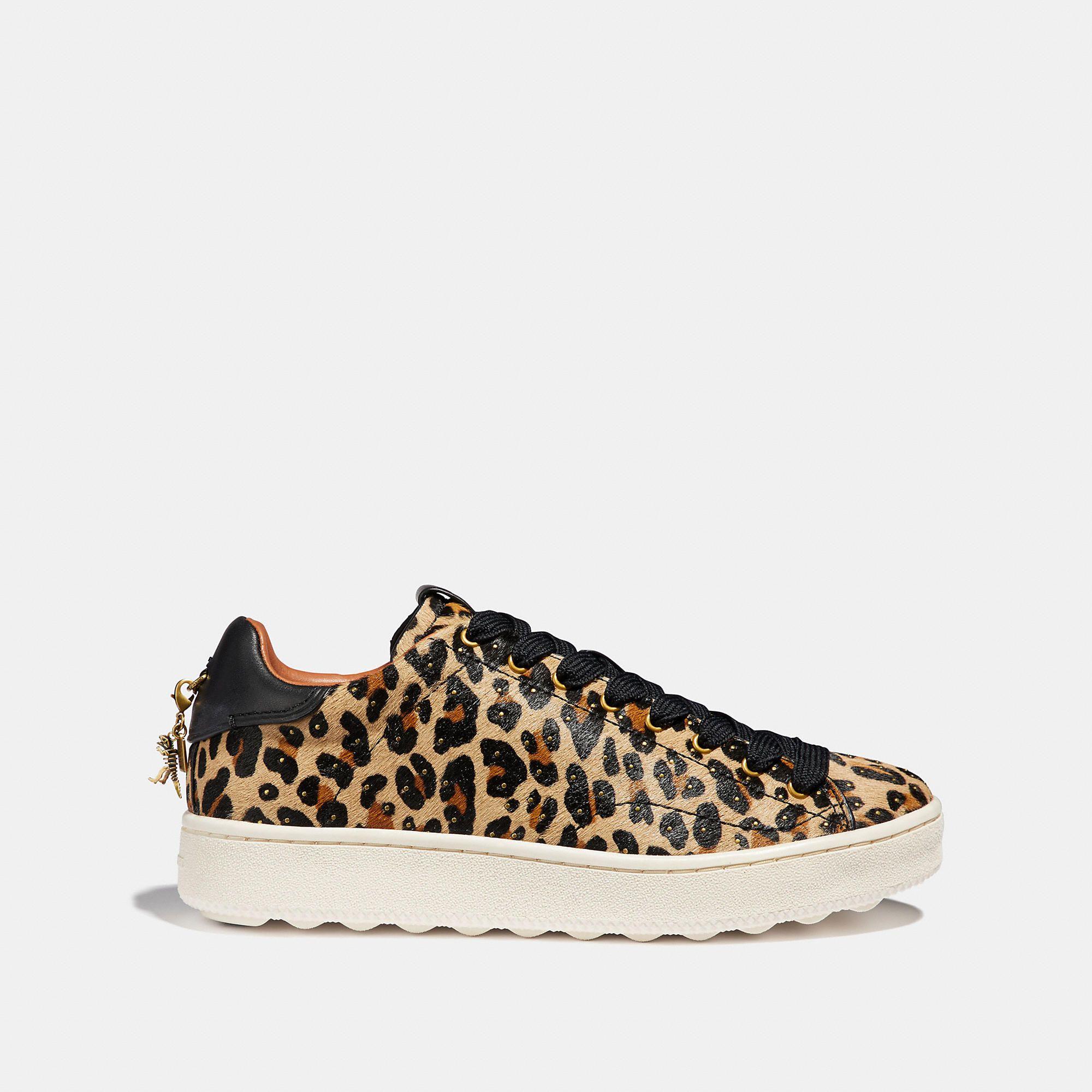 c4526b908 COACH C101 With Leopard Print - Women s Size 7.5 Tennis Shoes