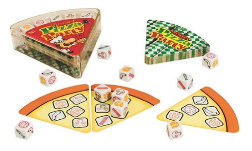 Pizza Party Dice Game Party games, Pizza party, Games