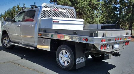 Protech Aluminum Flatbed With Chest Toolbox And Underbody