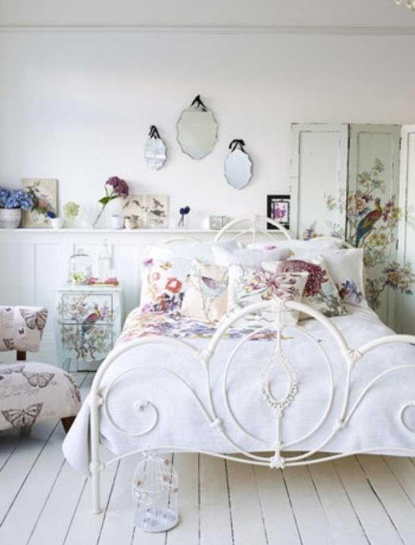 30 hermosos dormitorios vintage con el metal como protagonista cama de fierroooooo pinterest - Dormitorios vintage chic ...