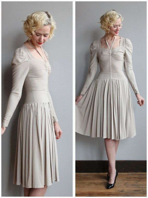 1940s Dress // Silver Screen Dress // vintage 40s rayon dress ...