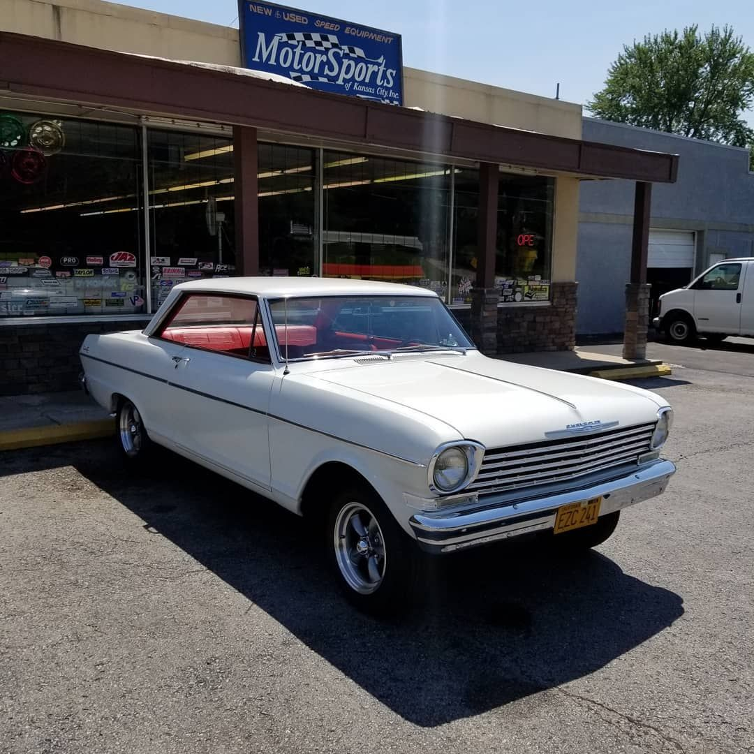 This Really Clean 62 Nova Stopped By The Store The Other Day Love The Red Interior With The White Exterior Had A Nice 327 Under Chevrolet Chevy Nova Chevy