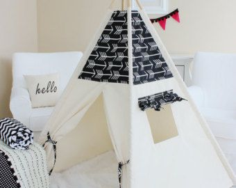 palmiers de tommy et toile naturelle tipi jouent tente. Black Bedroom Furniture Sets. Home Design Ideas