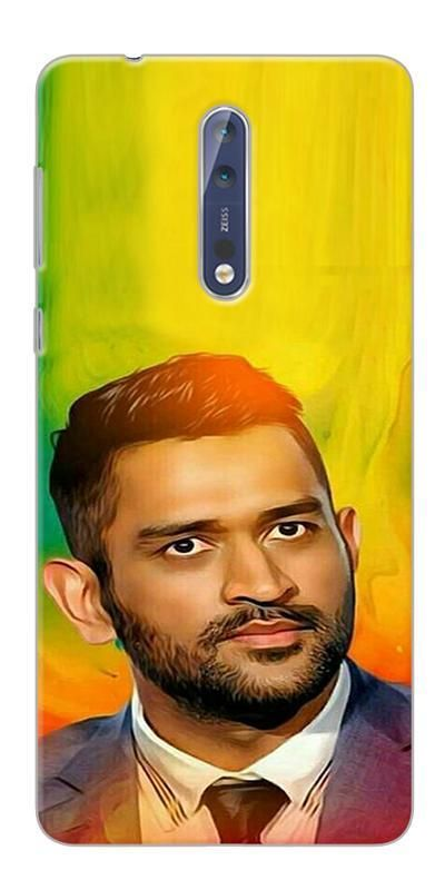 finest selection 949dd 386ce Digiprints Ms Dhoni Fan Printed Designer Back Case Cover For Nokia 8 ...