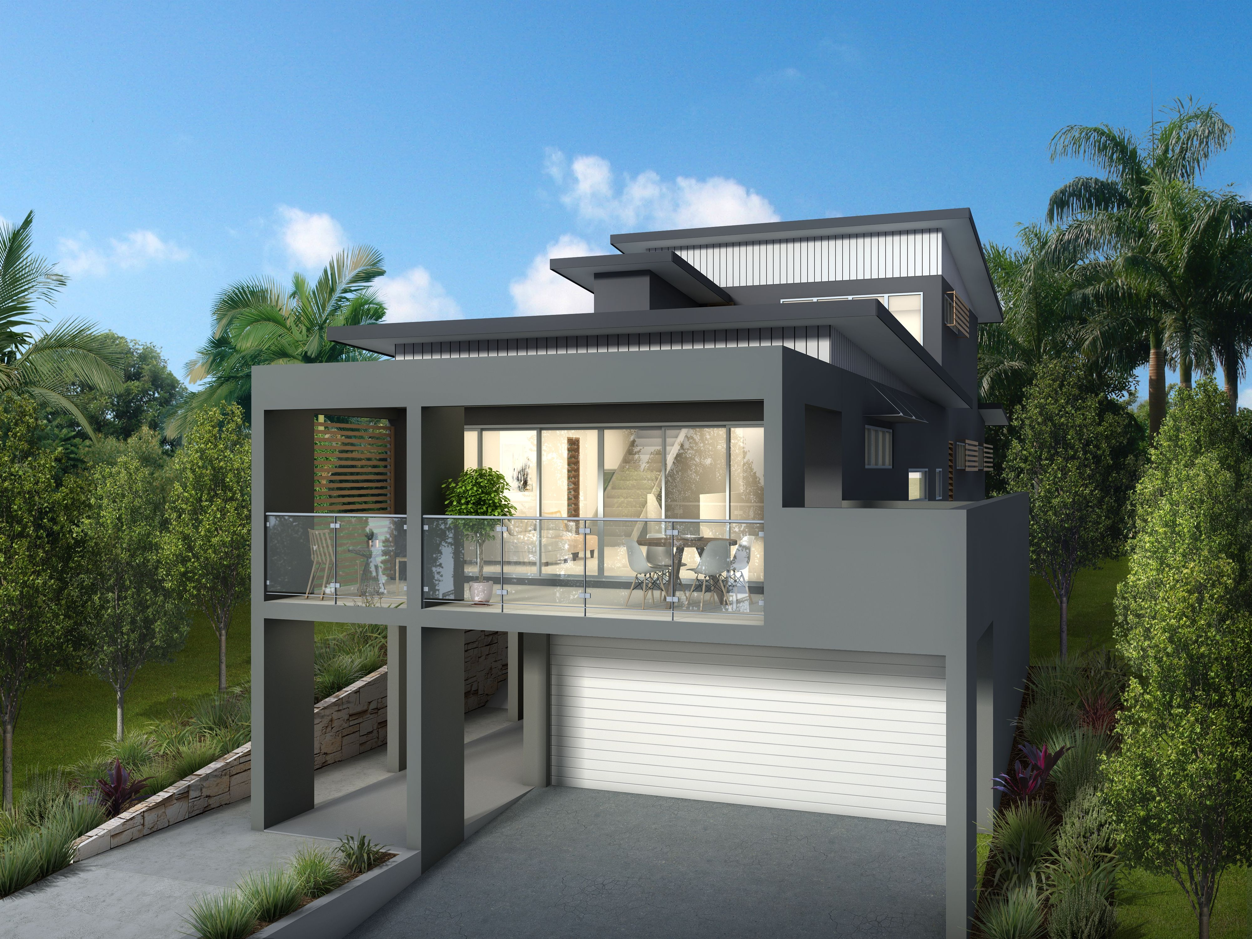 M4004 Craftsman House Plans Sloping Lot House Plan House Design