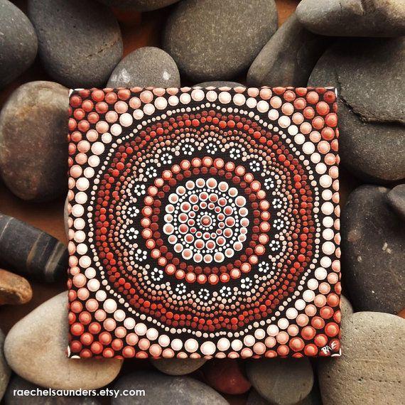 Dot Art Authentic Australian Aboriginal Art Earth Design Acrylic