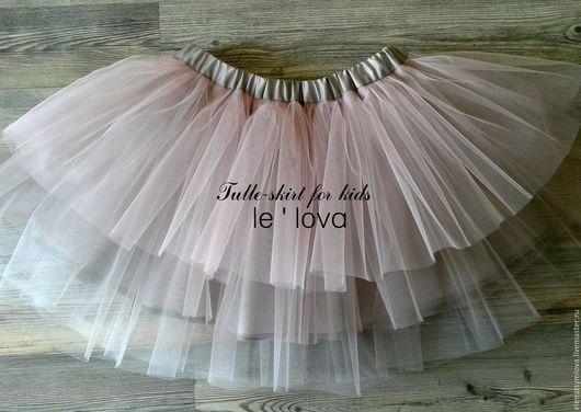 Одежда для девочек, ручной работы. Ярмарка Мастеров - ручная работа. Купить Детская юбка из фатина в пастельных цветах. Handmade. Комбинированный