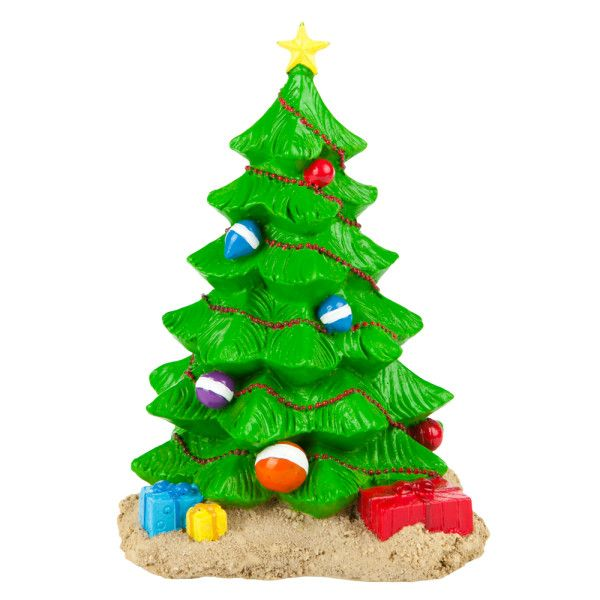 Trim the tree below the water top fin christmas tree aquarium ornament petsmart - Fish tank christmas decorations ...