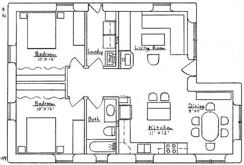Cozy Cabin Basement House Plans Cottage Plan House Plans