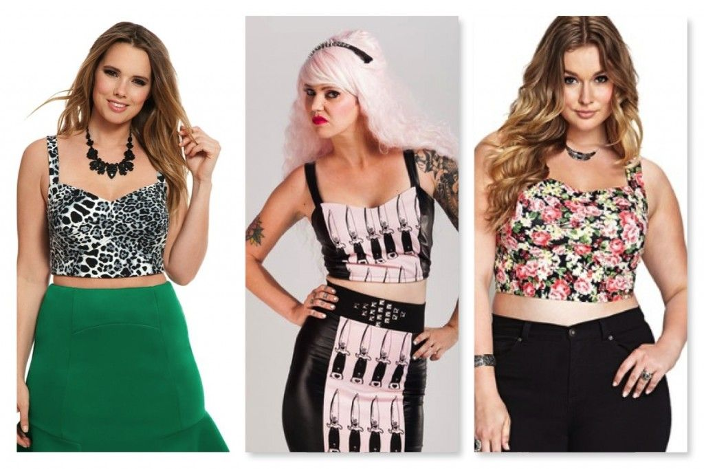 ea78634e8b0554 Curvily Spring Trend Report  Crop Tops with bralette style tops from  Eloquii
