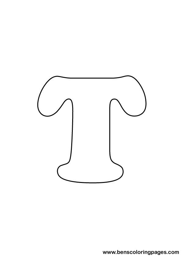 Free Letter T Coloring Page Coloring Pages Lettering
