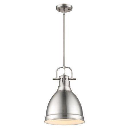 Golden Lighting 3604-S-PW Duncan 1 Light Indoor Pendant - 8.875 Inches Wide, Gray