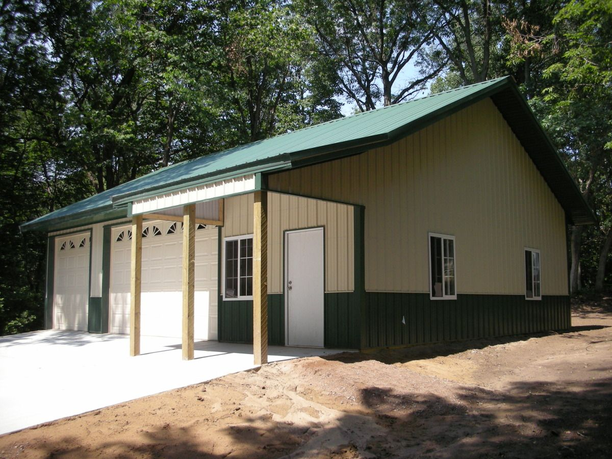 Garage idea home building quality pole buildings steel for Pole barn garage ideas