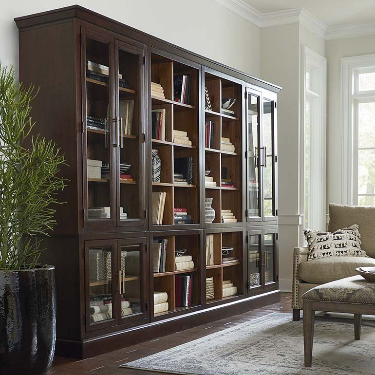 Storeroom modular storage quad library bookcase modular storage credenza and hgtv - Modular dining room ...