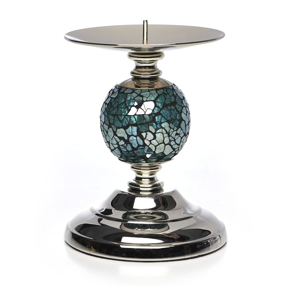 Wilkinson's Mosaic Ball Candle Holder Teal