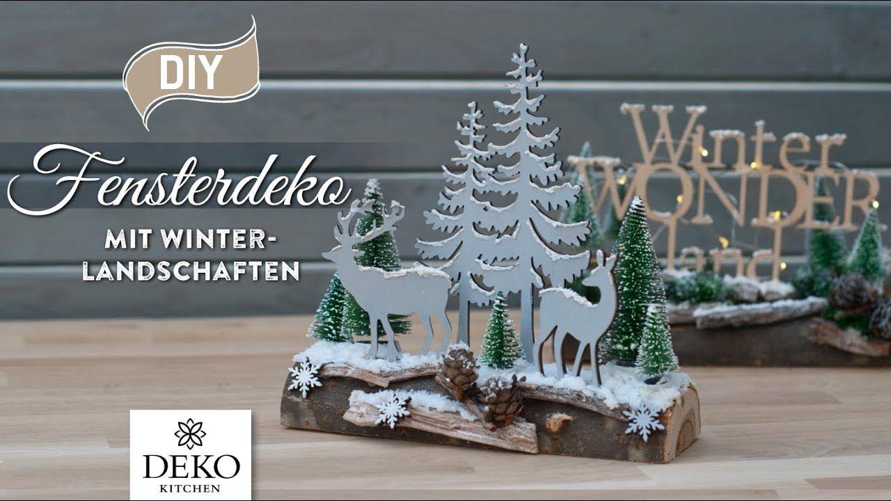 Diy Weihnachtliche Fensterdeko Mit Hubscher Winterlandschaft How