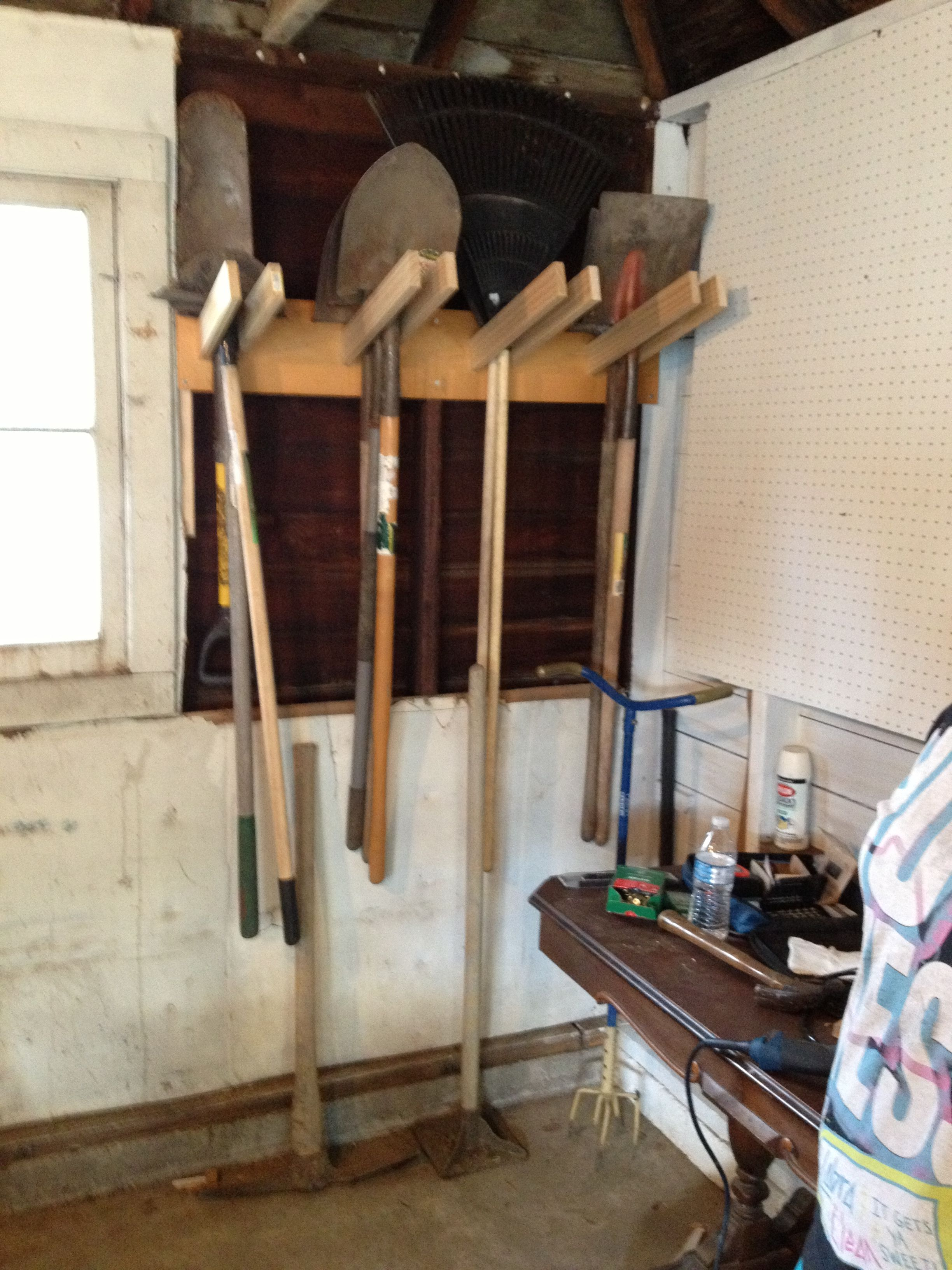 Shovel Take Storage Rack For Garage