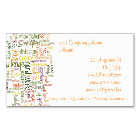 Motivational words 2 business card business cards motivational words 2 business cards from hightonridley colourmoves
