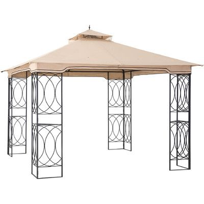 Sunjoy James Aim 10 Ft W X 10 Ft D Metal Permanent Gazebo Patio Canopy Patio Gazebo Gazebo