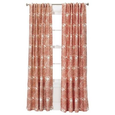 Coral Shell Print Curtain Panels Target 95 Inches 29 99 Home