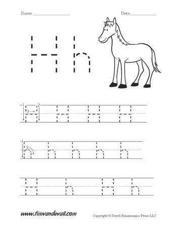 letter h handwriting worksheet alphabet printables kindergarten worksheets handwriting. Black Bedroom Furniture Sets. Home Design Ideas