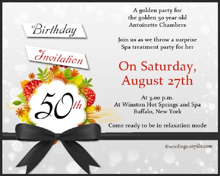Creative Birthday Invitation Card Format In English Happy